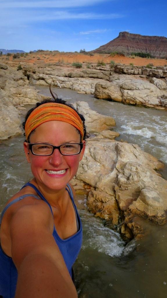 My happy face, Virgin River Falls Park, Utah
