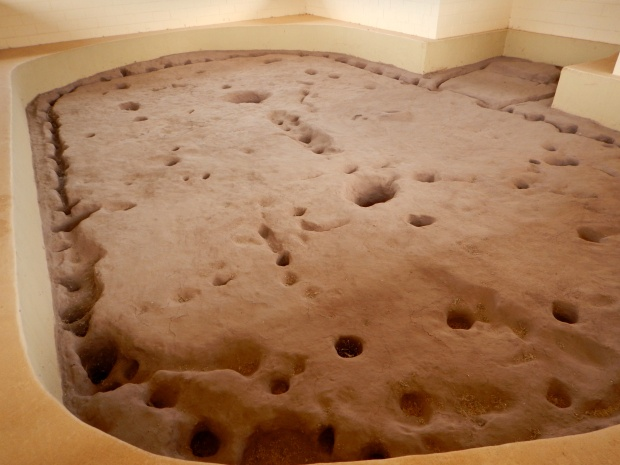 Excavated pit house, ca. 1050 AD, near Montezuma Well, Arizona