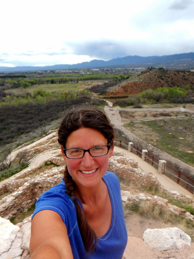 Me on the tower, Tuzigoot National Monument, Arizona