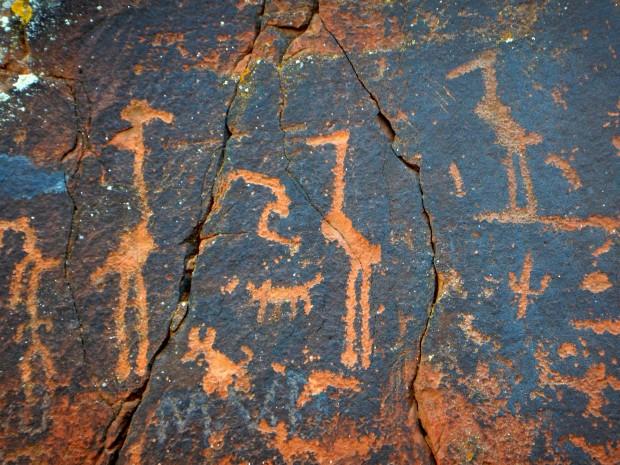Crane/heron clan symbols, V – Bar – V Heritage Site, Coconino National Forest, Arizona