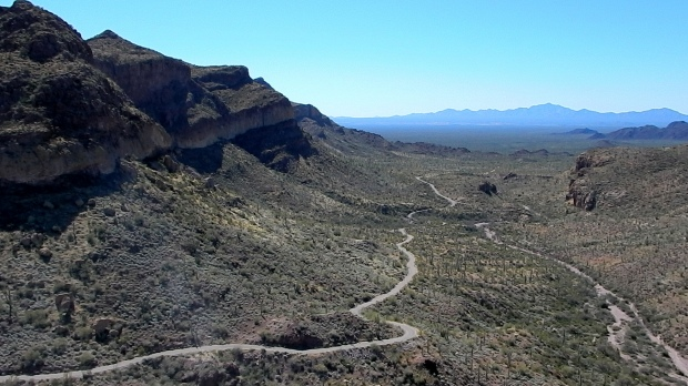 From top of random mountain I hiked up along Ajo Mountain Drive, Organ Pipe Cactus National Monument, Arizona
