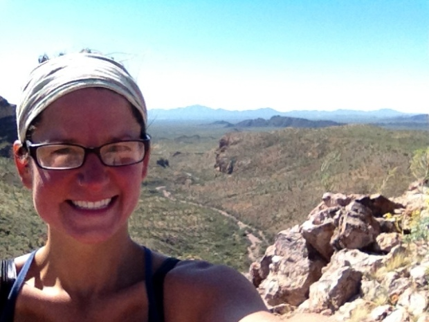 Me on mountain, Ajo Mountain Drive, Organ Pipe Cactus National Monument, Arizona