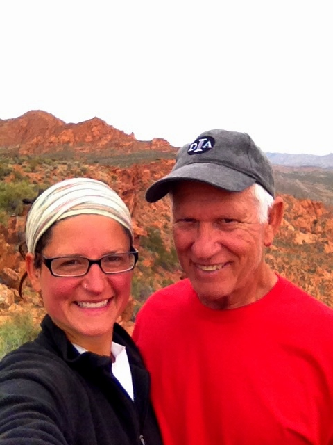 Tom and I at the top of the cliffs, Red Cliffs National Conservation Area, Utah