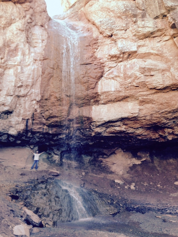 Me behind the waterfall, Camp Creek, Zion National Park, Utah