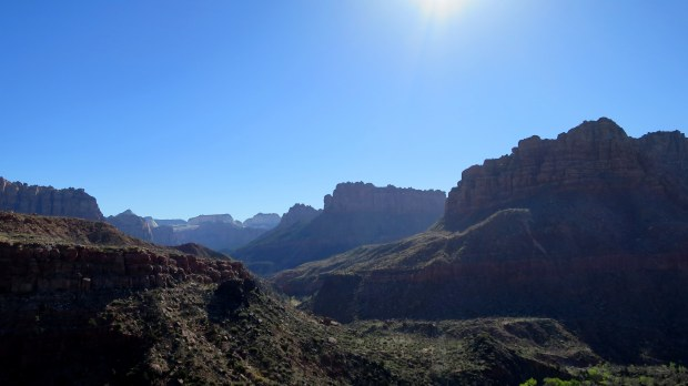View of La Verkin Creek Canyon from near rim, Zion National Park, Utah