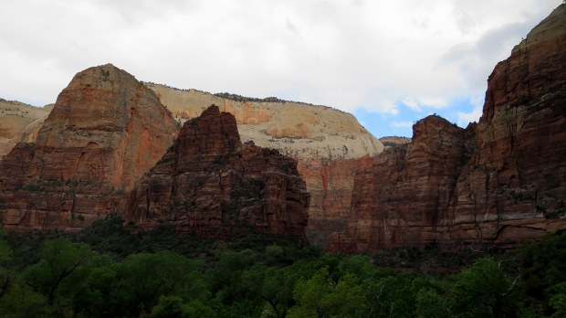 Looking across the canyon near the trailhead of Observation Point Trail, Zion National Park, Utah