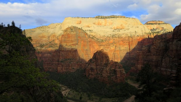 Looking across the canyon from about 500 hundred feet up on Observation Point Trail, Zion National Park, Utah
