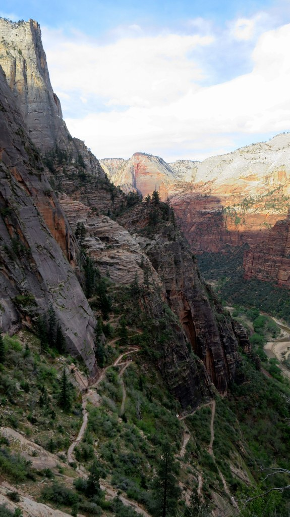Looking down on switchbacks, Observation Point Trail, Zion National Park, Utah