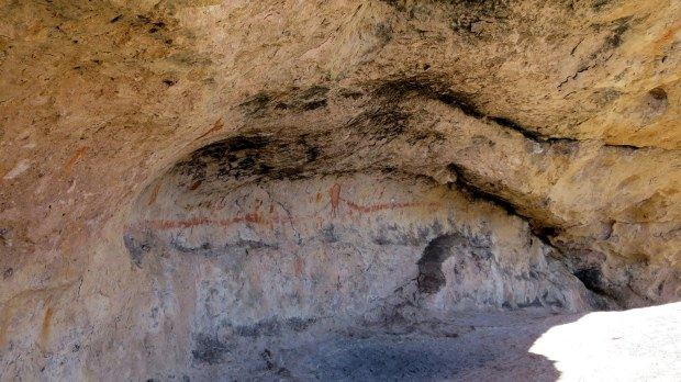 Cave with pictographs, The Lion's Head, Dixie National Forest, Utah