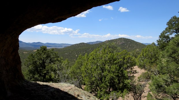 View from inside the cave at Lion's Head, Dixie National Forest, Utah
