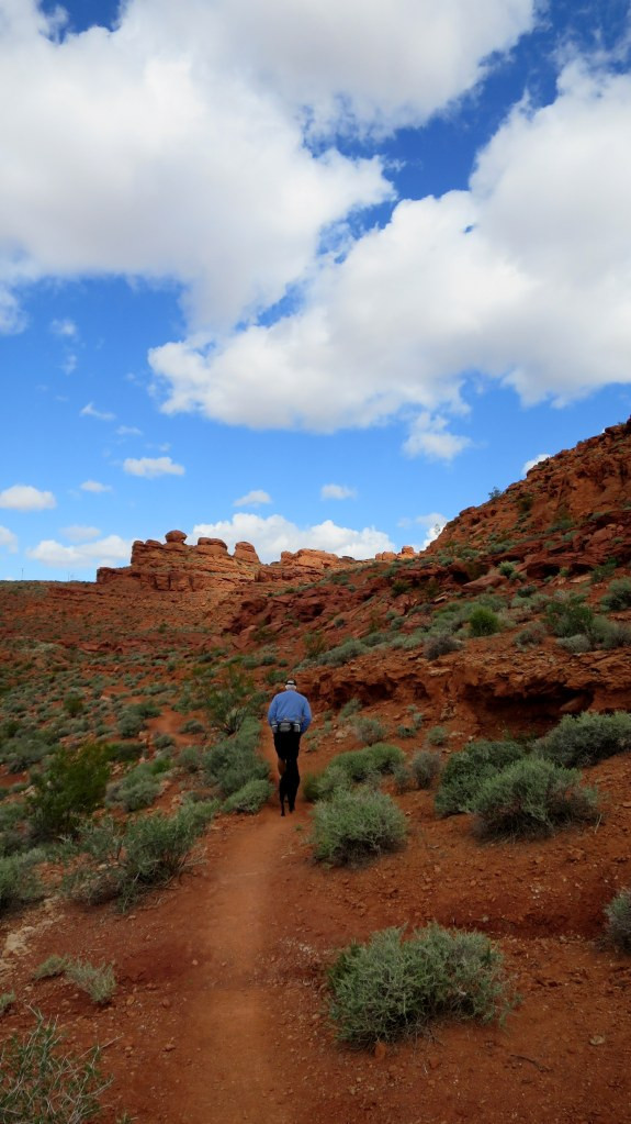 Tom and Abby on Dino Cliffs Trail, Red Cliffs Desert Reserve, Utah