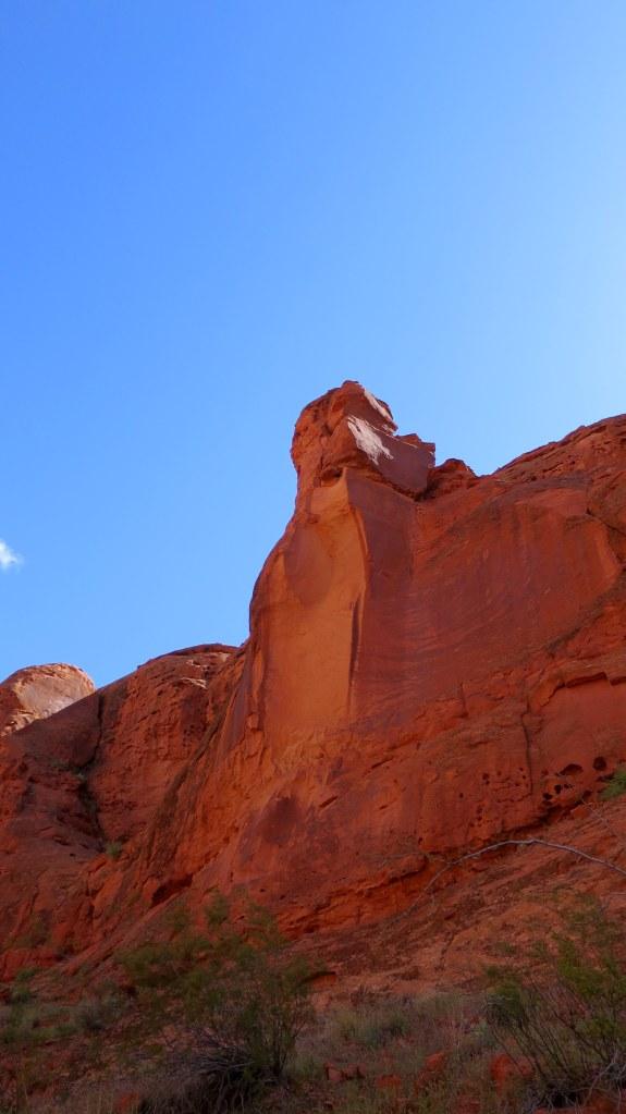 Sheared sandstone, Dino Cliffs, Red Cliffs Desert Reserve, Utah