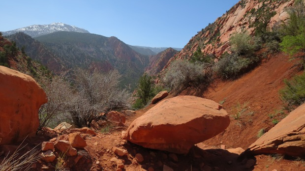 Hiking up the canyon, Cedar City, Utah