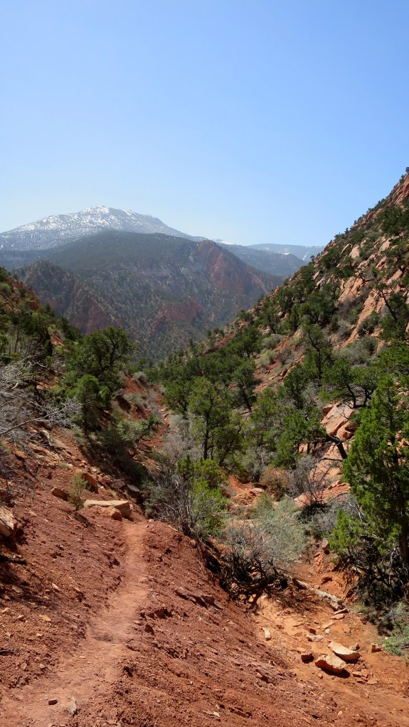 Hiking up the canyon, Cedar City, Utah