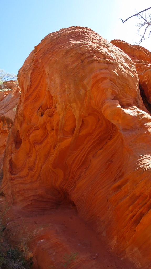 Erosion in the sandstone, Cedar City, Utah