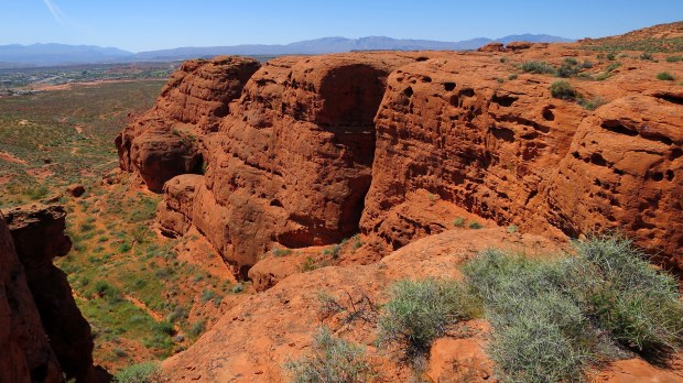 Erosion in Dino Cliffs, Red Cliffs Desert Reserve, Utah