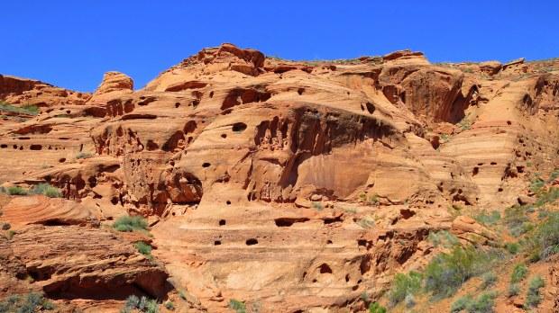 Erosion in Dino Cliffs, Red Cliffs Desert Reserve, Utah