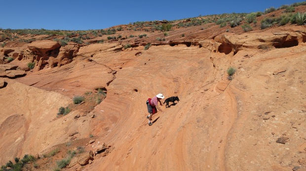 Climbing, Red Cliffs Desert Reserve, Utah