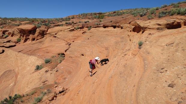 Climbing, Red Cliffs Desert Reserve, Utah