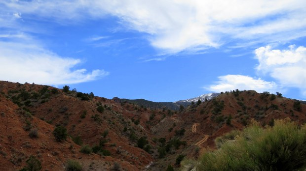 Walking up the mountains on an ATV trail, Cedar City, Utah