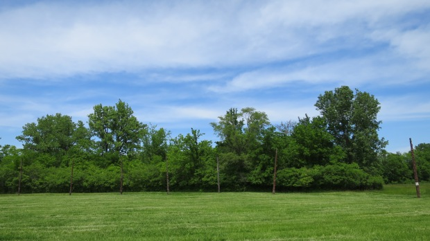 """Woodhenge"" - the Cahokian solar calendar, Cahokia Mounds State Historic Site, Illinois"