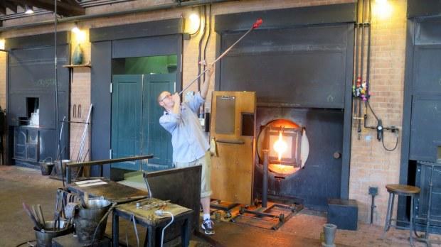 Glass blowing, Greenfield Village, Michigan