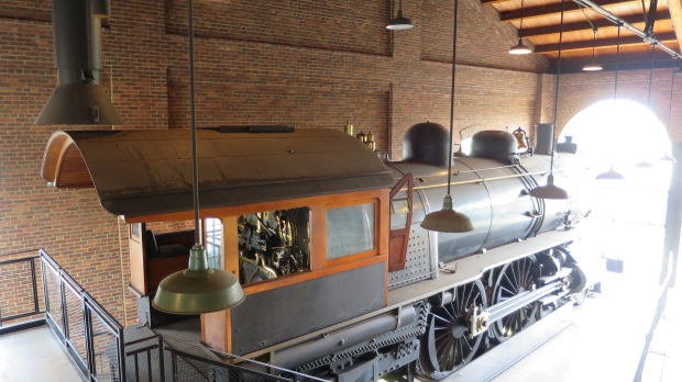 Locomotive inside roundhouse, Greenfield Village, Michigan