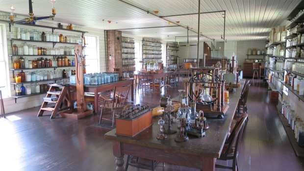 Thomas Edison's laboratory from Menlo Park, New Jersey relocated to Greenfield Village, Michigan