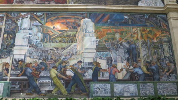 Detroit Industry Murals, Diego Rivera, 1932 – 1933, Detroit Institute of Arts, Michigan