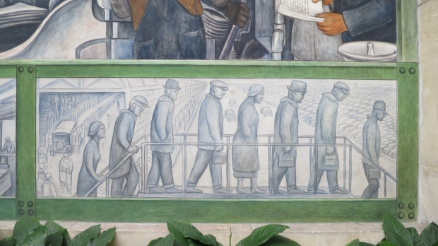 Detail from Detroit Industry Murals, Diego Rivera, 1932 – 1933, Detroit Institute of Arts, Michigan