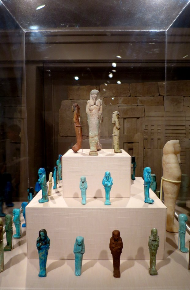 Egyptian shawabatis - substitute workers placed in tombs to assist the deceased in the afterlife, ca. 1070 BC – 324 AD, Detroit Institute of Arts, Michigan