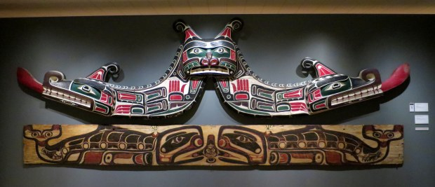 Kwakiutl House Ornaments, 1927 (top) and ca. 1880 (bottom), Detroit Institute of Arts, Michigan