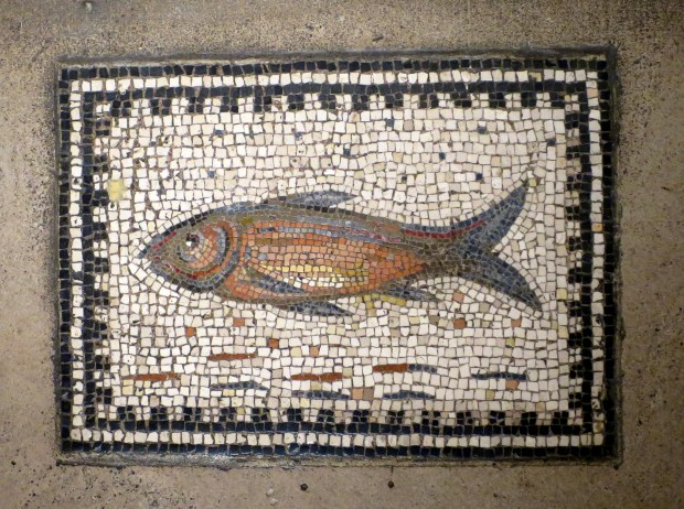 Roman fish mosaic, 4th century AD, Detroit Institute of Arts, Michigan