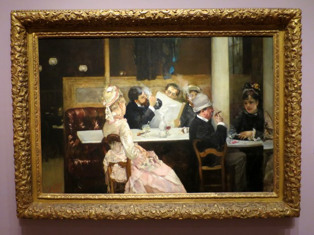 Cafe Scene in Paris, Henri Gervex, 1877, Detroit Institute of Arts, Michigan