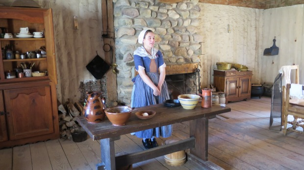 Colonial kitchen, Fort Michilimackinac State Park, Michigan