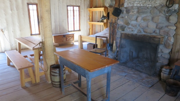 House of a married enlisted British soldier within rowhouse ca. 1774-1781, Fort Michilimackinac State Park, Michigan