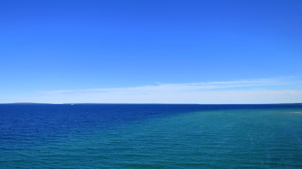 View from the Mackinac Bridge, Michigan
