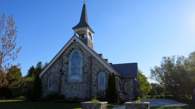 Little Stone Church, 1904, Mackinac Island, Michigan