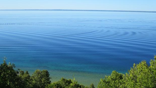 View from West Bluff, Pontiac Trail, Mackinac Island, Michigan