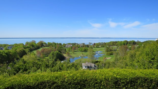 View from the palisades of Fort Mackinac, Mackinac Island, Michigan