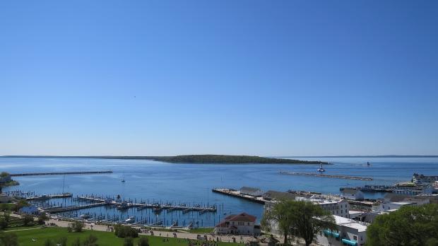 One more view from palisades of Fort Mackinac, Mackinac Island, Michigan