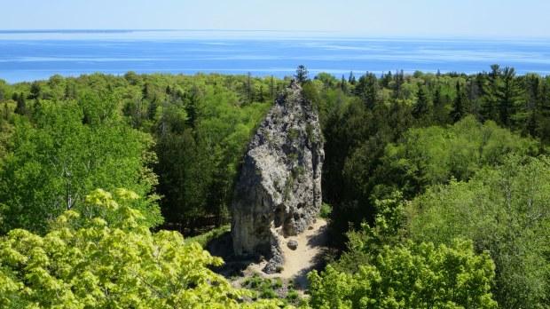 Sugar Loaf rock, Mackinac Island, Michigan