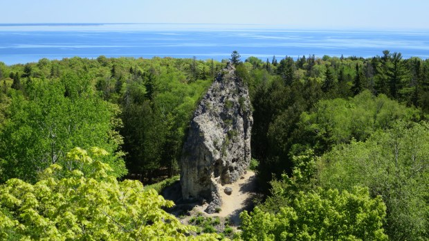 Sugar Loaf rock, Mackinac Island, Michigan