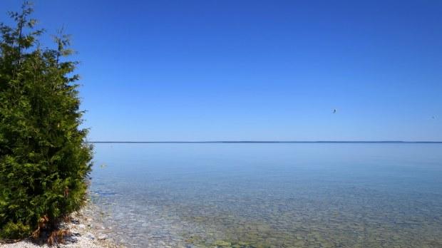 Shore of Mackinac Island, Michigan