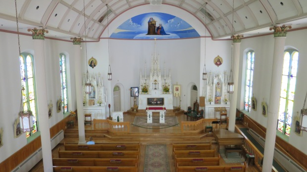 Interior Saint Anne Church, Mackinac Island, Michigan