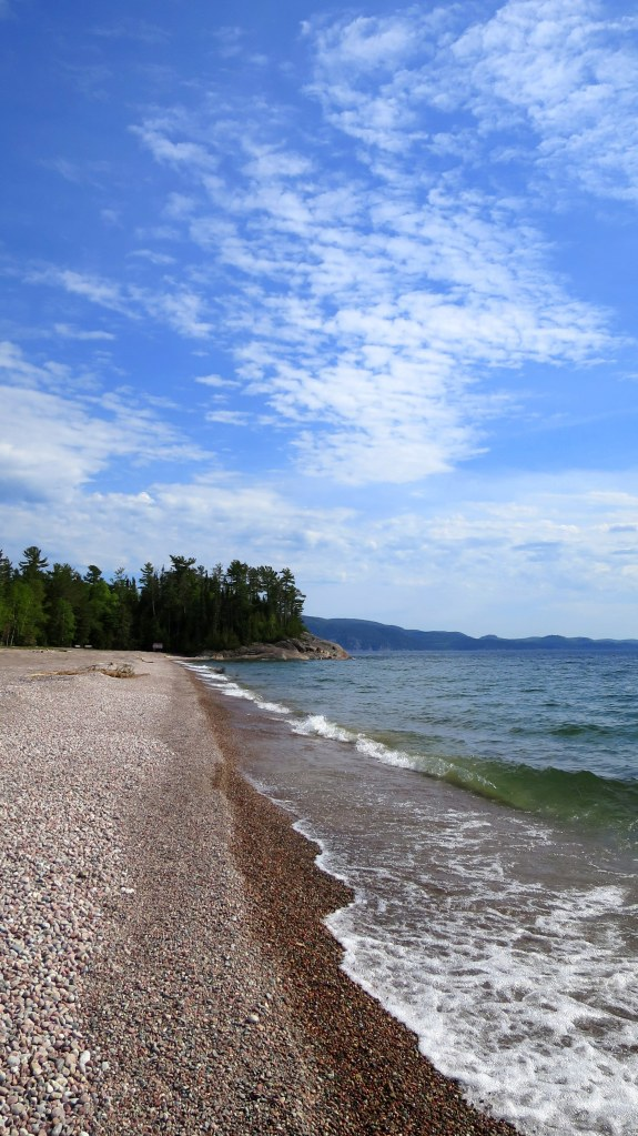 Beach, Lake Superior Provincial Park, Ontario, Canada