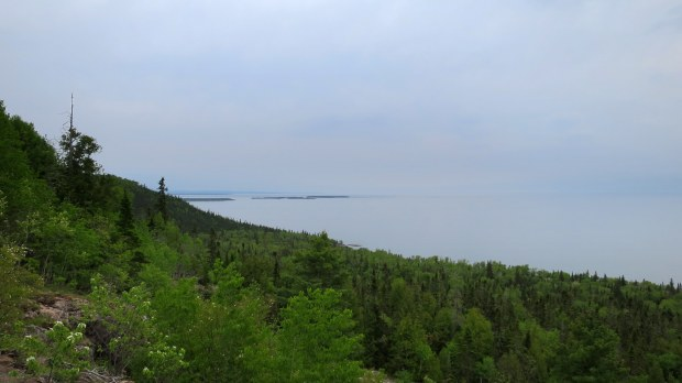 Overlook over Lake Superior, Orphan Lake Trail, Lake Superior Provincial Park, Ontario, Canada