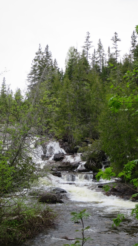 Waterfall on Baldhead River, Orphan Lake Trail, Lake Superior Provincial Park, Ontario, Canada