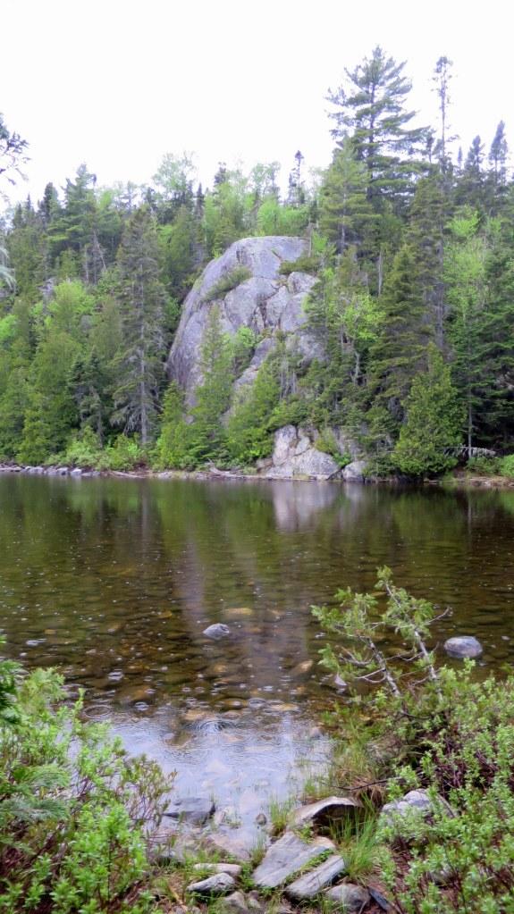 Drizzle while circling Orphan Lake, Orphan Lake Trail, Lake Superior Provincial Park, Ontario, Canada
