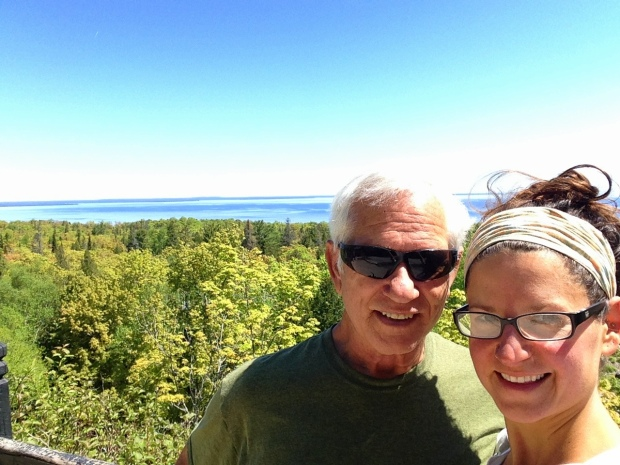 Tom and I near Fort Holmes, Mackinac Island, Michigan